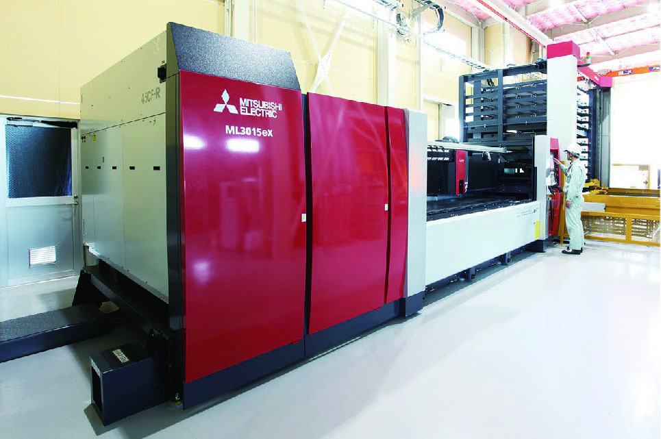 Laser beam machining center
